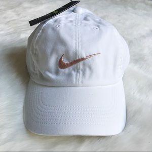 Nike White + Rose Gold H86 Dad Hat